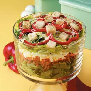 Pretty Layered Salad
