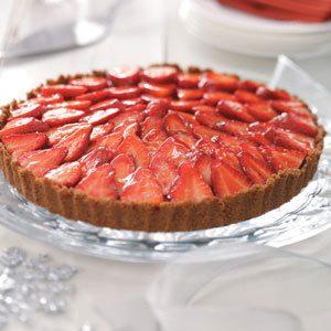 Gingered Strawberry Tart