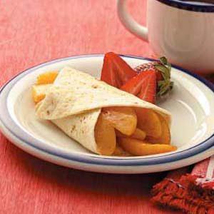 Cinnamon Peach Enchiladas
