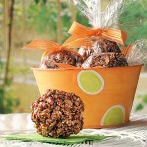 Chocolate Popcorn Balls