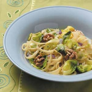 Fettuccine with Brussels Sprouts