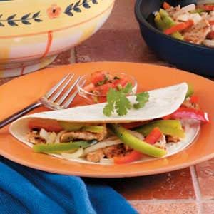 Chicken Pepper Fajitas