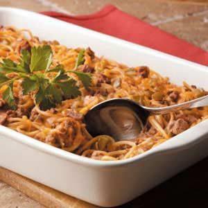 Cheesy Spaghetti Bake