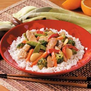 Quick Orange Pork Stir Fry