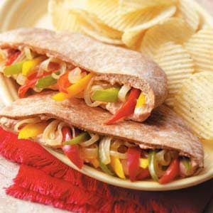 Sweet Pepper Pitas