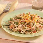 Asparagus Ham Fettuccine