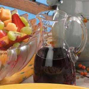 Chilled Red Wine Fruit Dressing