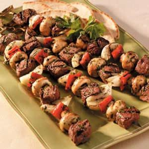 Lamb and Beef Kabobs