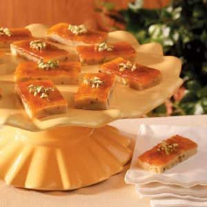 Pistachio Apricot Bars