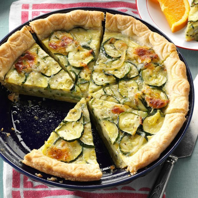 Massachusetts: Cheesy Zucchini Quiche