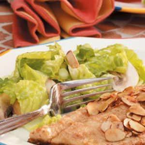 Mushroom Romaine Salad