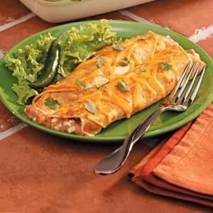 Refried Bean Enchiladas