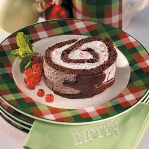 Peppermint Cake Log