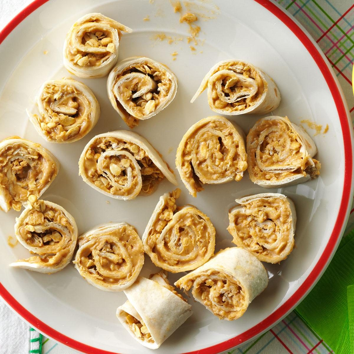 Elementary Age: Peanut Butter Granola Pinwheels