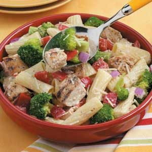 Grilled Chicken Pasta Salad for Two