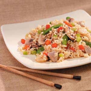 Pork Rice Stir-Fry