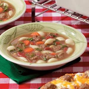 Fast Meatball Vegetable Soup