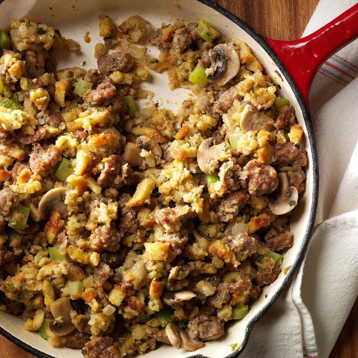 Skillet Sausage Stuffing Recipe | Taste