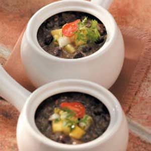 Black Bean Soup with Fruit Salsa