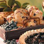 Rhubarb Blueberry Muffins
