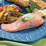 Poached Salmon and Dill Sauce