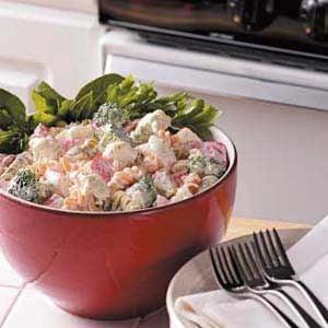 Quick Crab Pasta Salad
