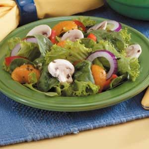 Mixed Green Salad with Raspberry Dressing