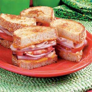 Grilled Club Sandwiches