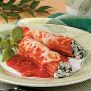 Spinach Manicotti