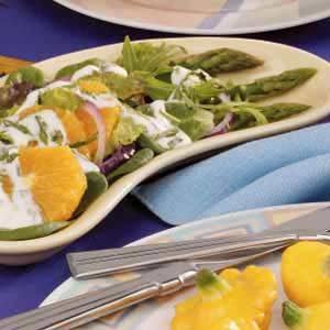 Herb-Dressed Asparagus Orange Salad