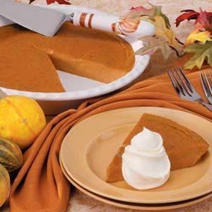 Low-Calorie Pumpkin Pie