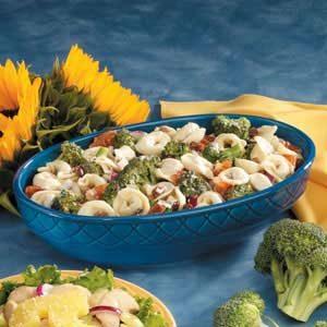 Broccoli and Cheese Tortellini Salad