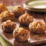 Healthy Cheese Stuffed Mushrooms
