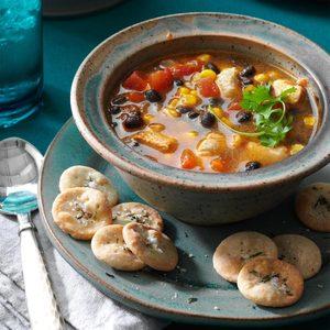 Skillet Southwestern Chicken Soup