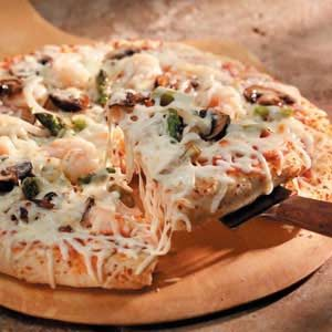 Shrimp 'n' Veggie Pizza