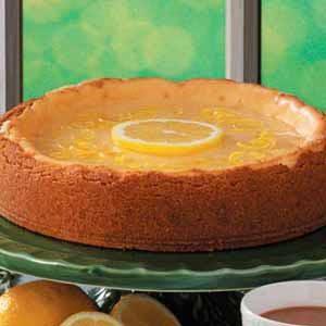 Golden Lemon Glazed Cheesecake