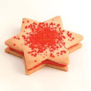 White Chocolate Star Sandwich Cookies