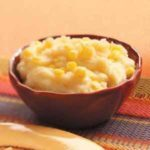 Mashed Potatoes with Corn and Cheese
