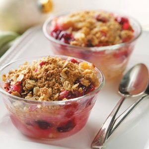 Gingered Cranberry Pear Crisp
