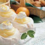 Lemon Custard in Meringue Cups
