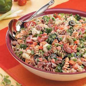 Creamy Italian Spiral Salad