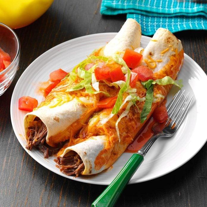 Slow-Cooked Beef Enchiladas