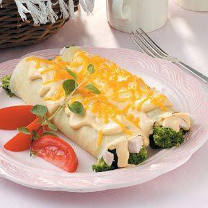 Chicken Broccoli Crepes