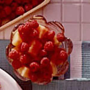 Cantaloupe and Raspberry Melba