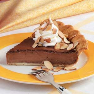 Almond-Fudge Custard Pie