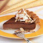 Almond-Fudge Custard Pie