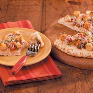 Quick Chicken Fajita Pizza
