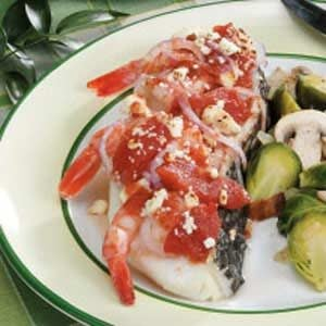 Sea Bass with Shrimp and Tomatoes