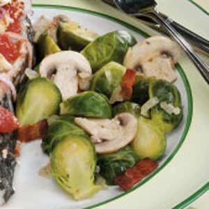 Bacon-Mushroom Brussels Sprouts
