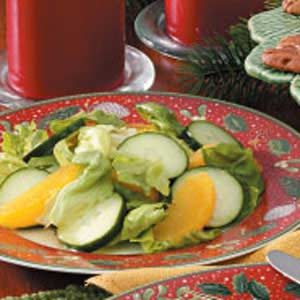 Orange-Cucumber Lettuce Salad